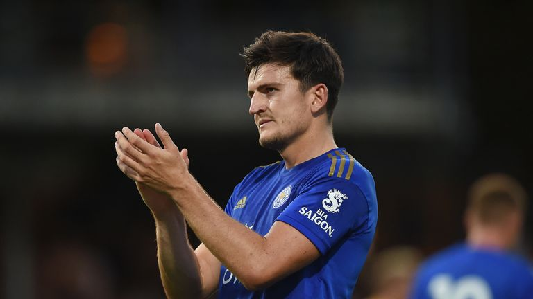Harry Maguire started and scored for Leicester in their win over Cambridge
