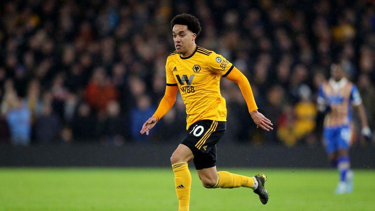 Helder Costa in action for Wolves