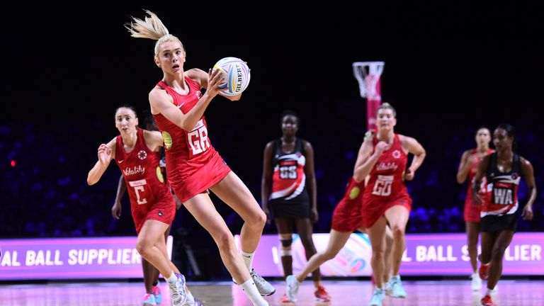 England beat Trinidad & Tobago to reach Netball World Cup semi-final