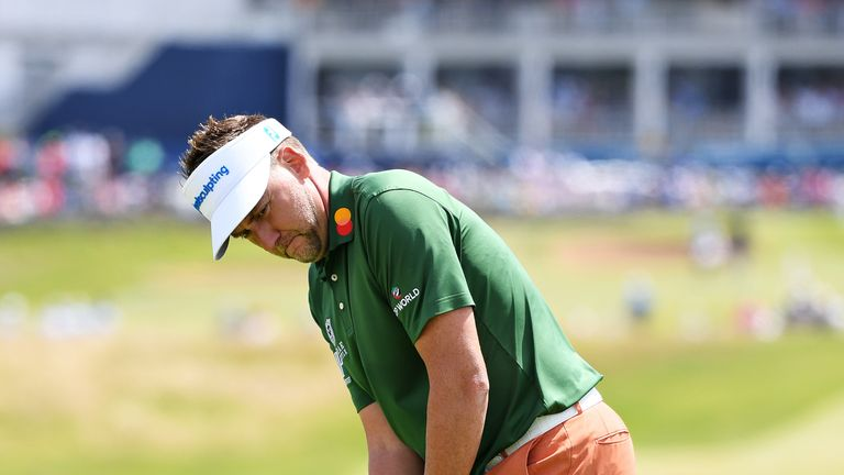 Poulter birdied his last three holes to get to four under