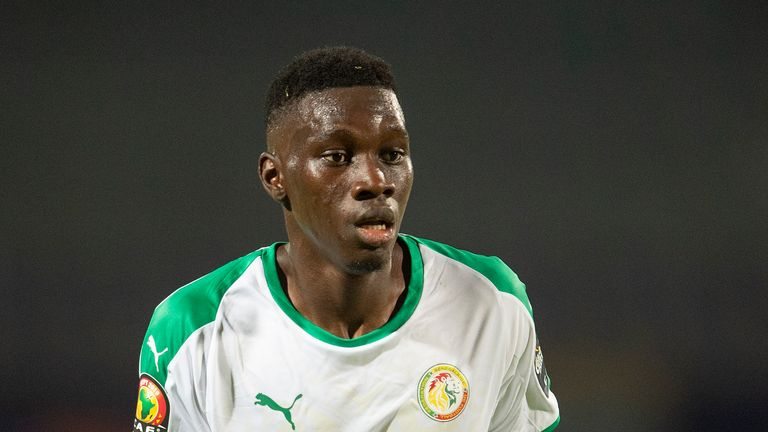 CAIRO, EGYPT - JUNE 23: ISMAILA SARR of Senegal during the 2019 Africa Cup of Nations Group C match between Senegal and Tanzania at 30th June Stadium on June 23, 2019 in Cairo, Egypt. (Photo by Visionhaus)