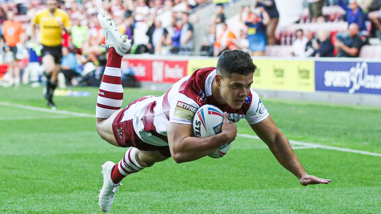 Jake Shorrocks was one of Wigan's other try-scorers in the win over Wakefield