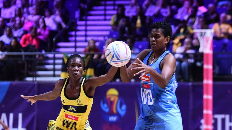 Jamaica in action at the Netball World Cup