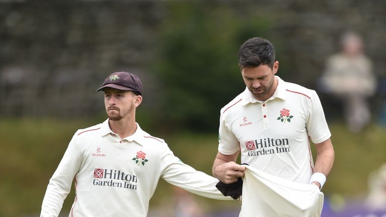 Anderson suffered a low grade muscle tear in his calf while playing for Lancashire earlier this month