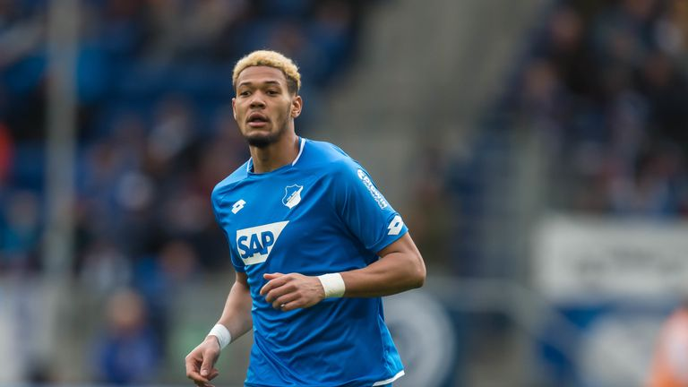 Joelinton in action for Hoffenheim