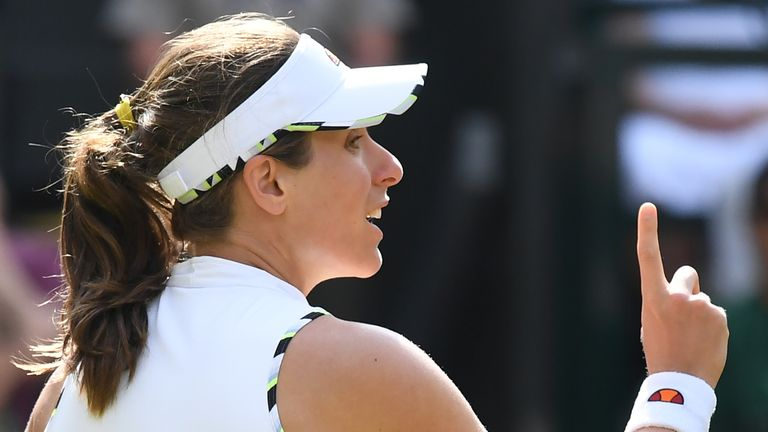 Konta's quest for a first Grand Slam final continues