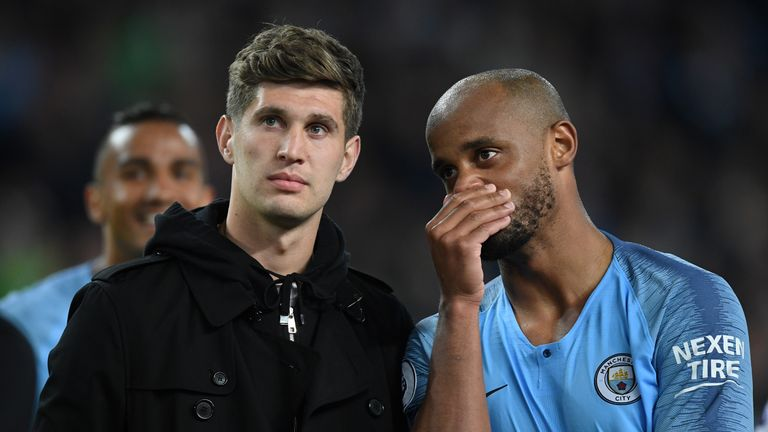 John Stones says he will miss Vincent Kompany at Manchester City as a player, captain and friend.