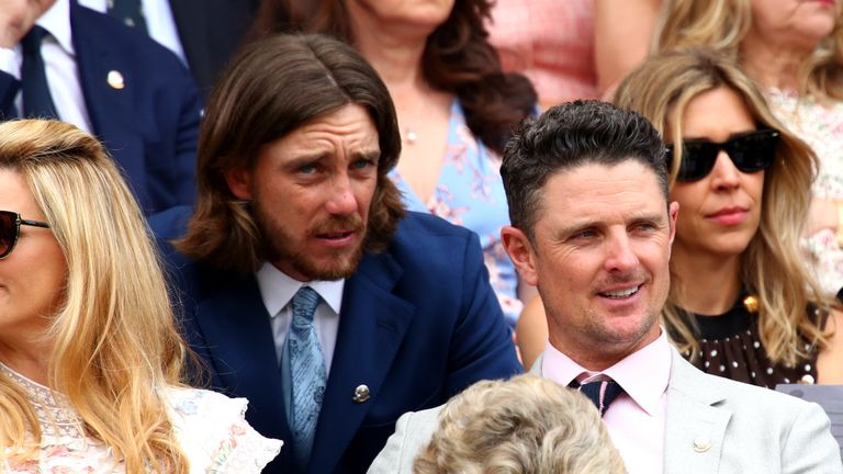 Rose and Tommy Fleetwood made an appearance in the Royal Box at Wimbledon last Monday
