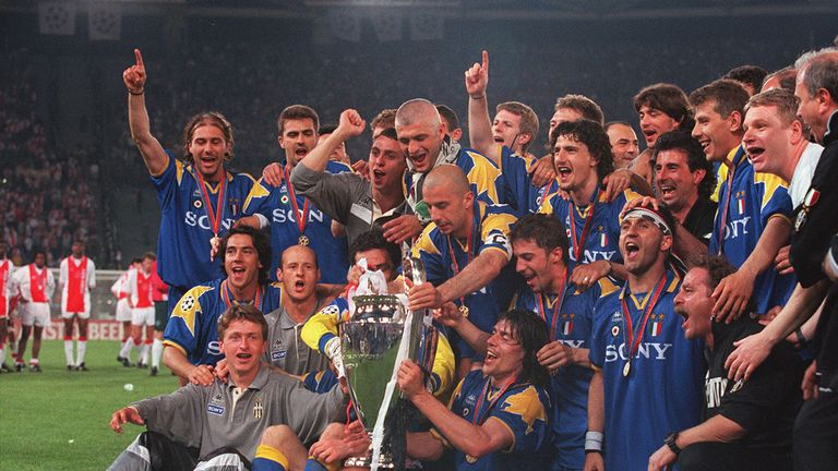 Juventus' 1996 Champions League-winning squad included familiar faces such as Antonio Conte, Gianluca Vialli and Fabrizio Ravanelli