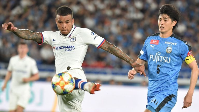 Kenedy has failed to break into Frank Lampard's first team squad