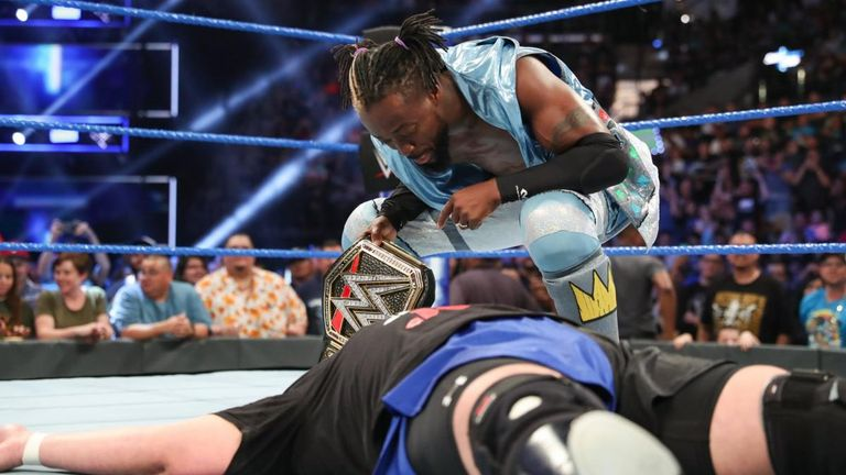 Kofi Kingston was having none of Samoa Joe's taunts ahead of their WWE title match at Extreme Rules