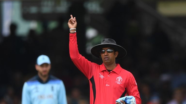Kumar Dharmasena sparked controversy when he decided to award England six runs instead of five in the World Cup final