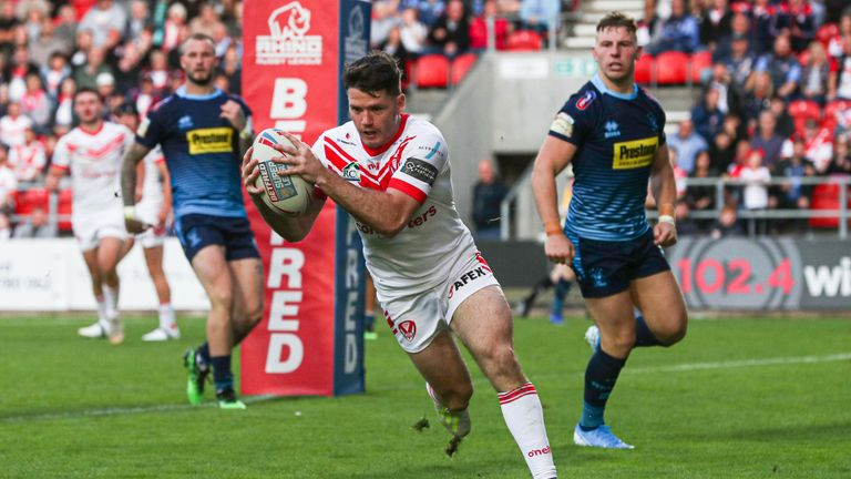 Lachlan Coote extends St Helens' advantage at the Totally Wicked Stadium
