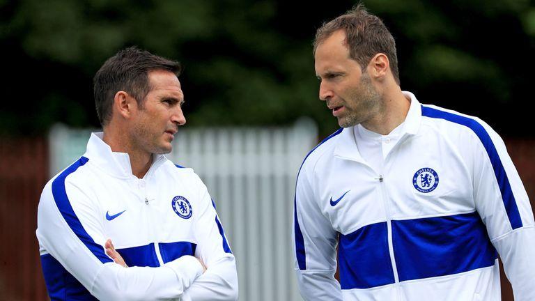 Petr Cech (right) felt the club, says Lampard