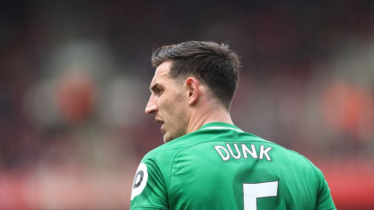 Lewis Dunk is reportedly the subject of interest from Leicester City