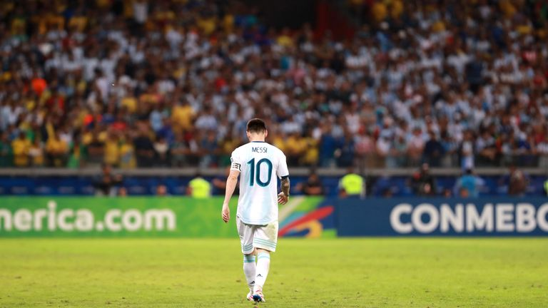Messi trudges off after Copa America defeat