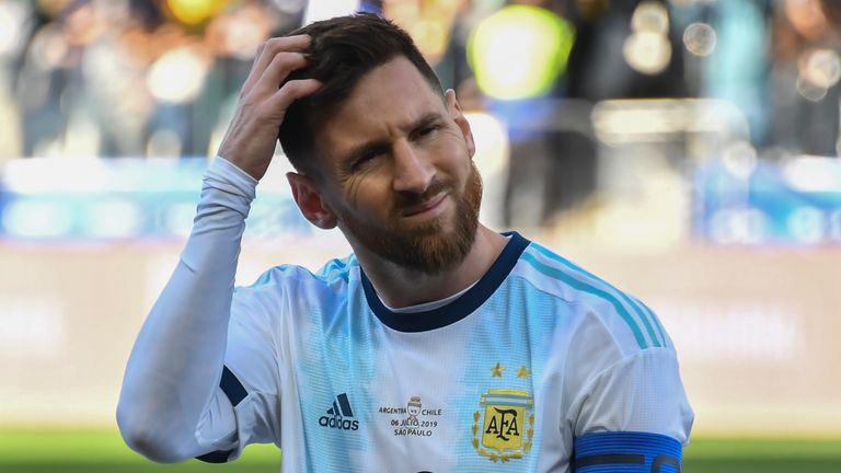 Lionel Messi was sent off in Argentina's third place play-off win over Chile at the Copa America