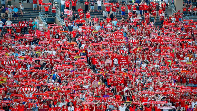 Liverpool had excellent support in Indiana