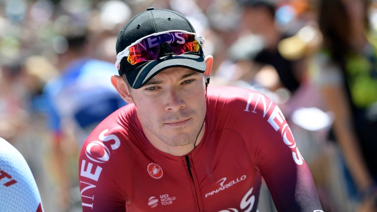 Luke Rowe was thrown off Le Tour on Wednesday after clashing with Jumbo-Visma rider Tony Martin