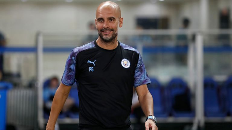Manchester City boss Pep Guardiola was in relaxed mood ahead of the start of the club's pre-season with the Premier League Asia Trophy.