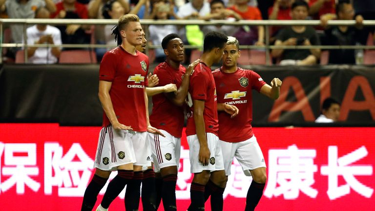 Anthony Martial scored the opening goal for United during a 2-1 win