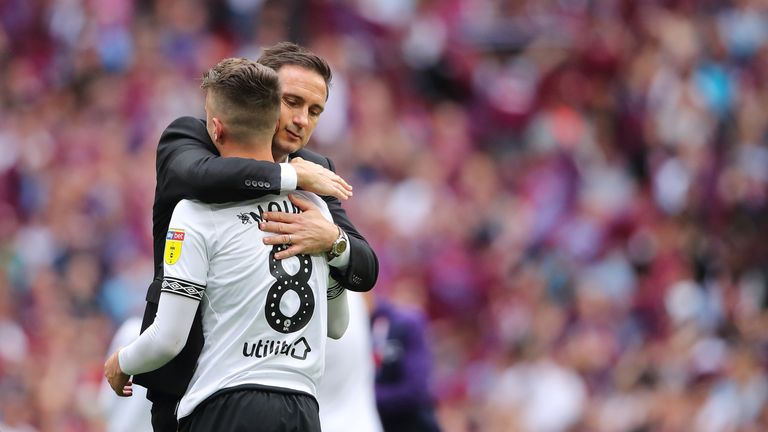Frank Lampard and Mason Mount at Derby County