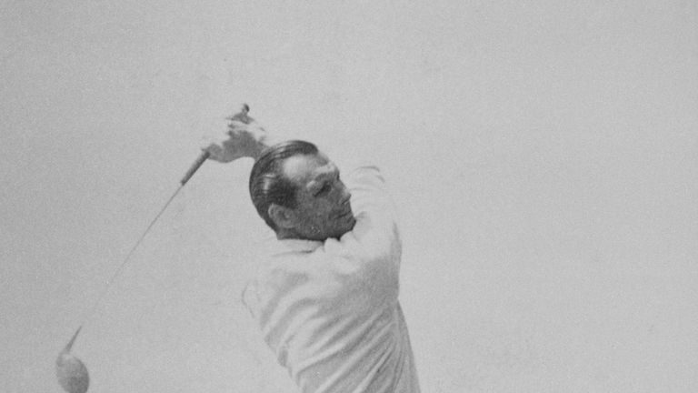 Faulkner in action during the 1951 Open