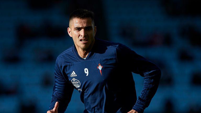 Maxi Gomez in action for Celta Vigo