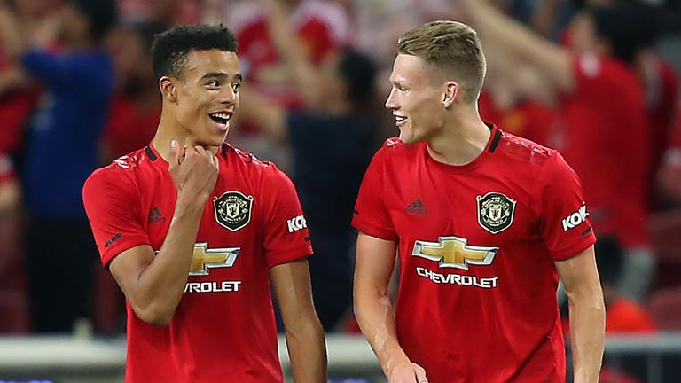 Mason Greenwood (left) has been tipped for a big future at Manchester United