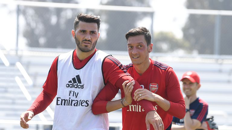 Mesut Ozil and Sead Kolasinac