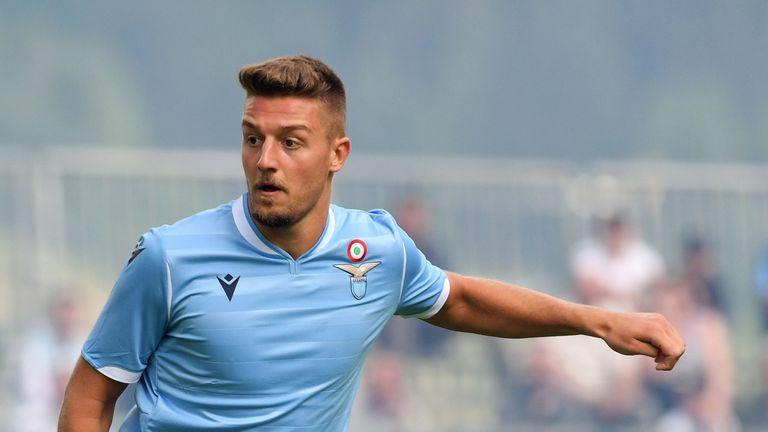 Sergej Milinkovic-Savic in action for Lazio on 17-07-2019