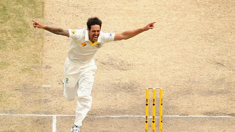 Mitchell Johnson during day four of the Second Ashes Test Match between Australia and England at Adelaide Oval on December 8, 2013 in Adelaide, Australia.