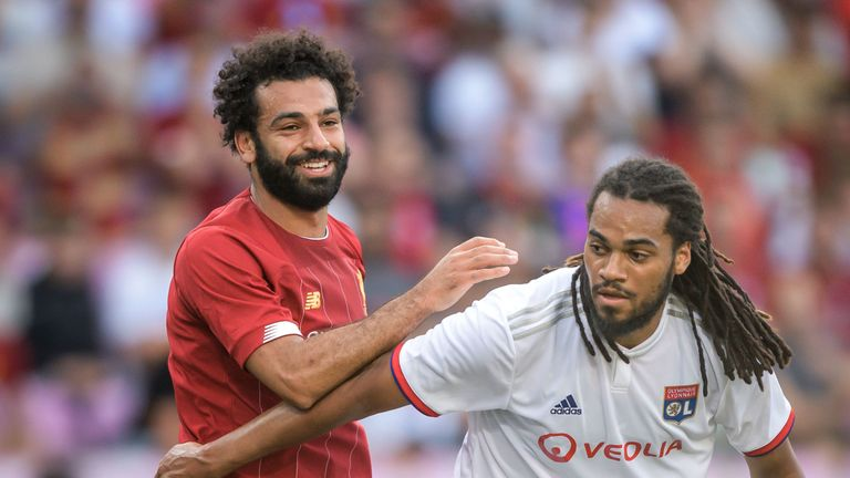 Mohamed Salah played 45 minutes on his return