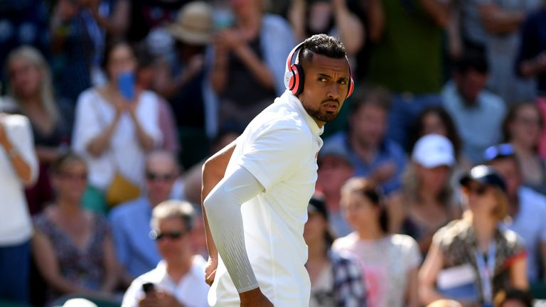 Nick Kyrgios brought his 'A Game' to Centre Court on Thursday