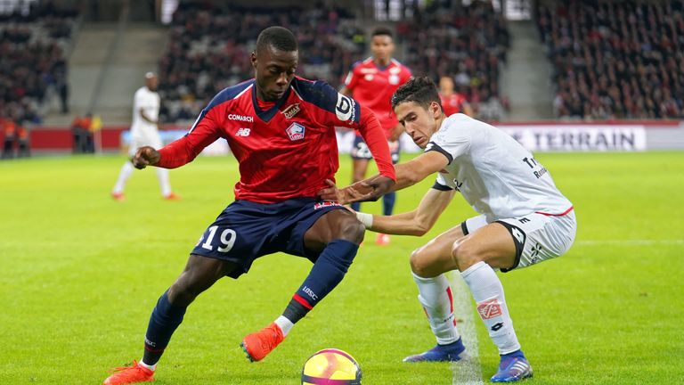 Nicolas Pepe in action for Lille