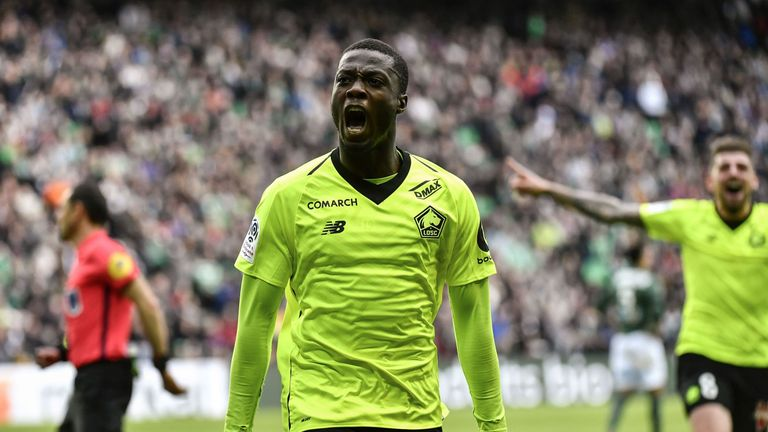 reputable site bd452 c6cb4 Nicolas Pepe: Napoli agree deal with Lille to sign Ivory ...