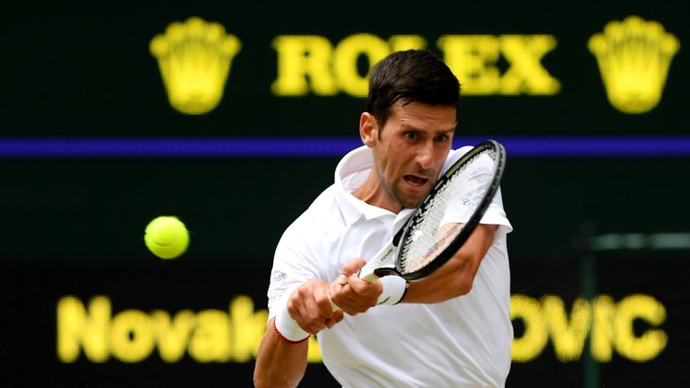 Djokovic won 15 of the last 17 games