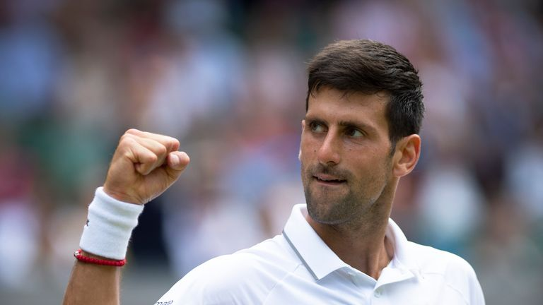 Novak Djokovic became the fourth man to record 70 match-wins at Wimbledon