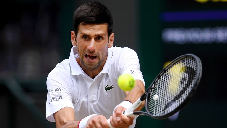 Djokovic defended his Wimbledon title for the second time
