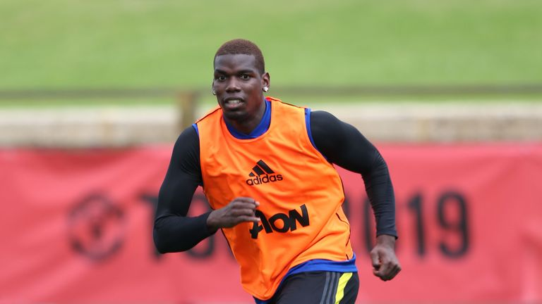 Paul Pogba is on Manchester United's pre-season tour of Australia