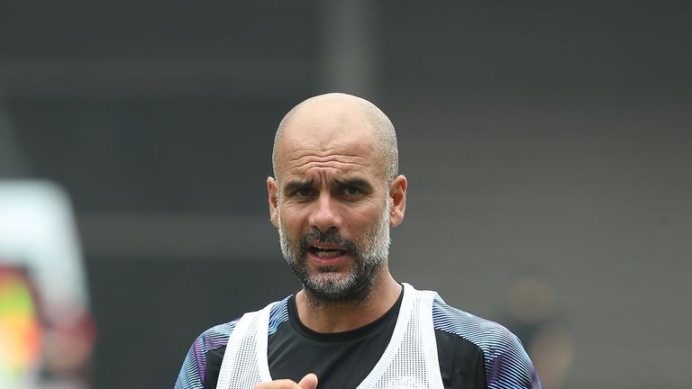 Pep Guardiola on July 18, 2019 in Shanghai, China.