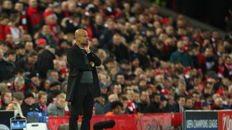 "Pep Guardiola ""lit up"" at the prospect of facing Liverpool at Anfield"