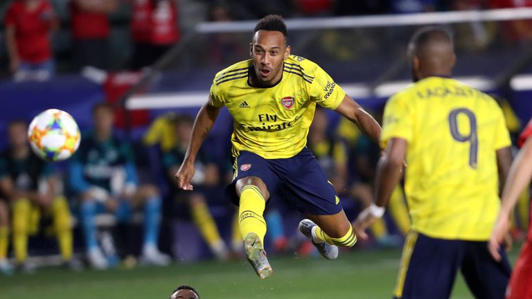 Aubameyang's cross set up Arsenal's opener