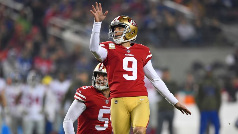 Robbie Gould agrees new long-term contract with San Francisco 49ers