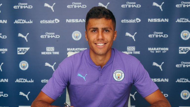 Rodri is set to make his Man City debut in China