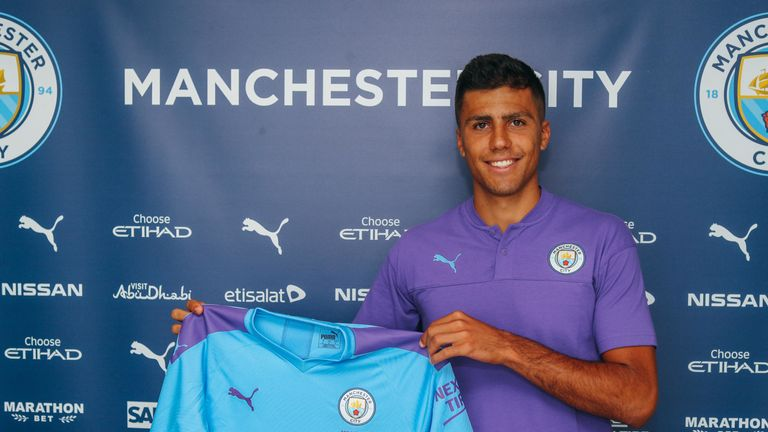 Manchester City's record signing Rodri (credit: Manchester City)