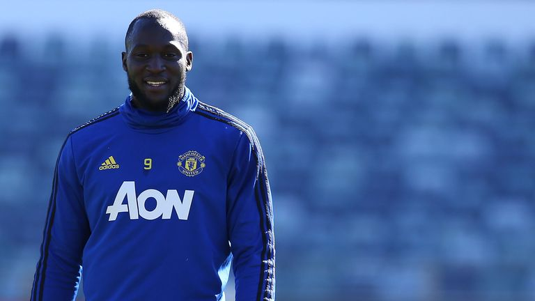 Romelu Lukaku during a training session on Manchester United's pre-season tour of Australia