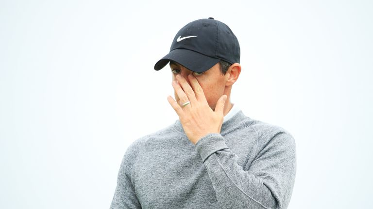 Rory McIlroy's spirited 65 was not enough to make the cut