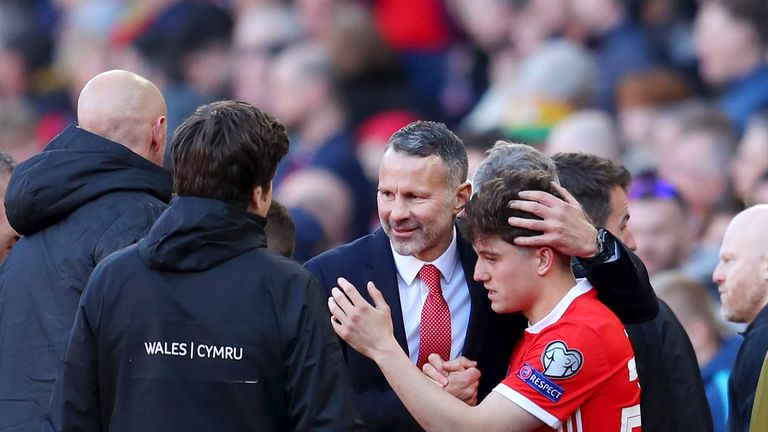 Daniel James is manged by Manchester United great Ryan Giggs for Wales