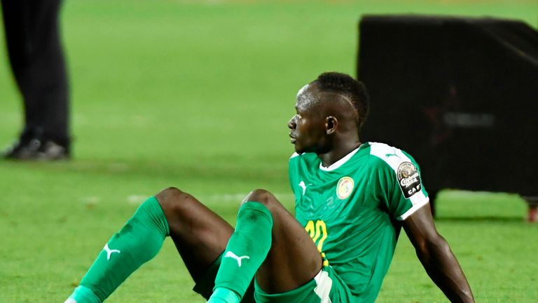 Sadio Mane was unable to help Senegal to victory against Algeria